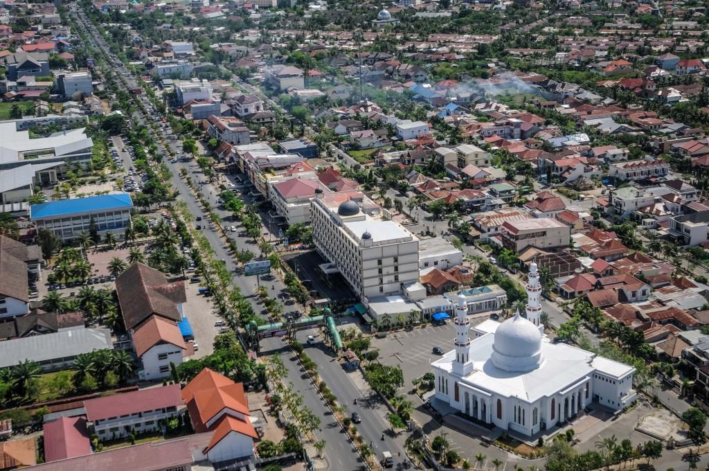 Foto Udara Banda Aceh dan Aceh Besar